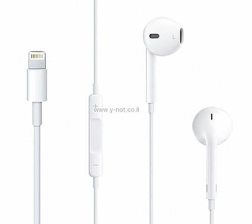 סופר Y -not ״למה לא״ - אוזניות עם מיקרופון לאייפון iPhone 7/8/X מקורי AS-13