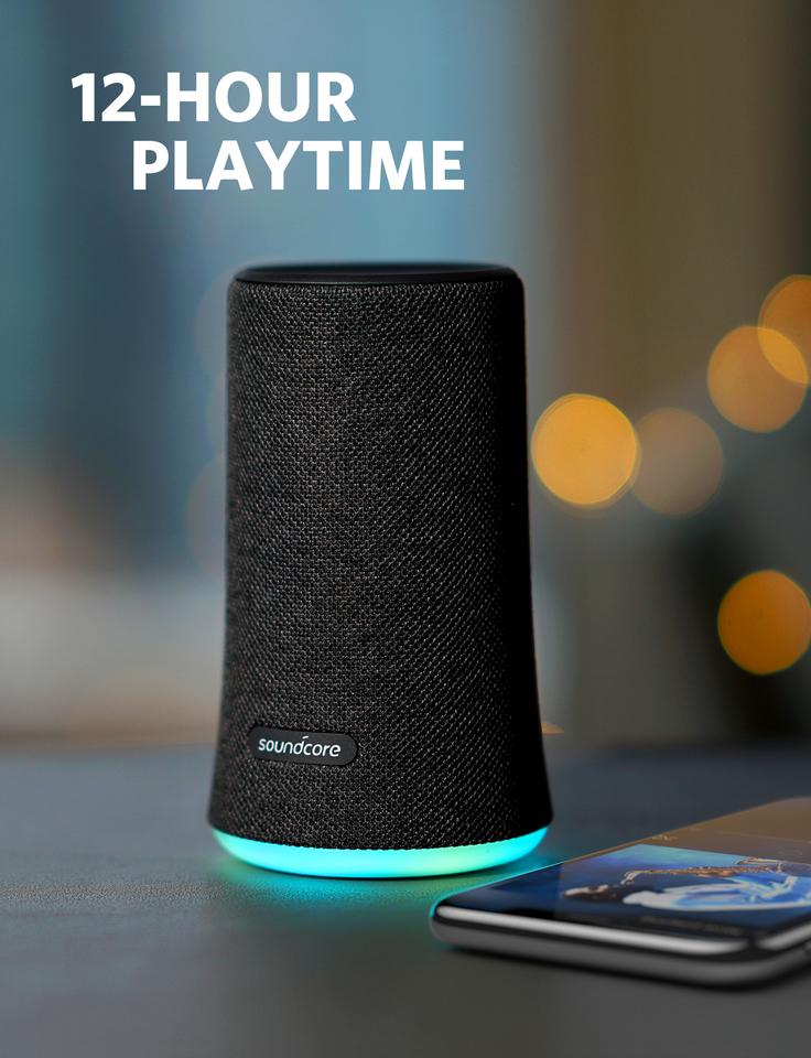 רמקול נייד ANKER SOUNDCORE FLARE - שחור, אפליקצייה ייעודית העוזרת לכם לשלוט על התאורה ועל מצבי התאורה לפי בחירתכם האישית ואת המוזיקה שלכם