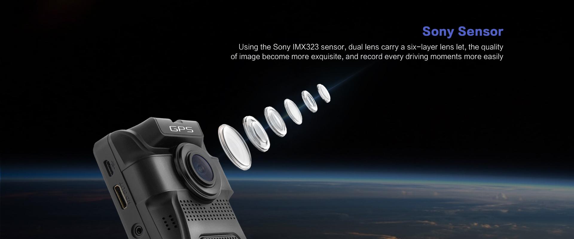 מצלמת דרך עם עדשה פנימית וחיצונית HD עם GPS מותג TAXIBOX - עדשת סוני