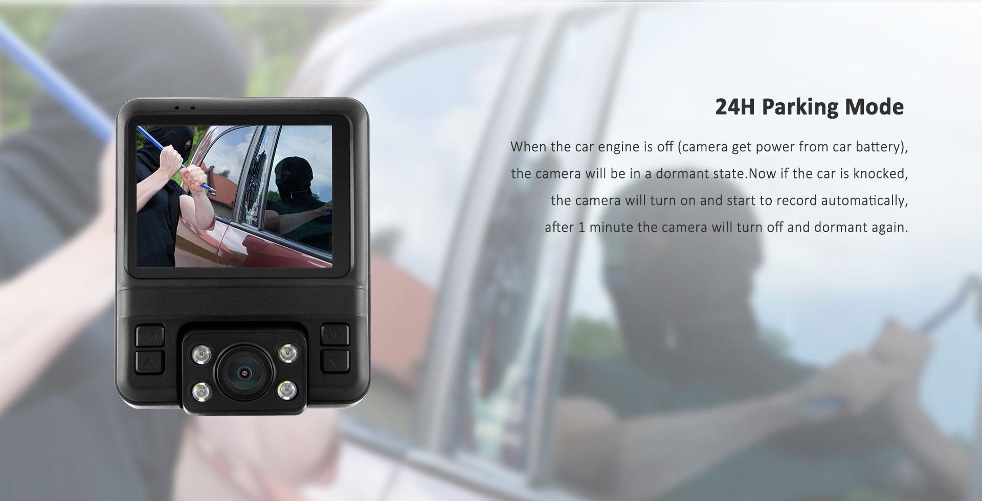 מצלמת דרך עם עדשה פנימית וחיצונית HD עם GPS מותג TAXIBOX - עם צילום שאינכם ברכב 24 שעות