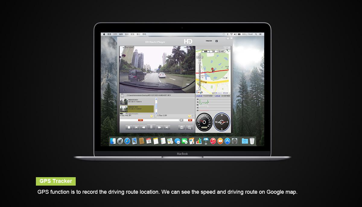 מצלמת דרך עם עדשה פנימית וחיצונית HD עם GPS מותג TAXIBOX - מצוייד GPS למעקב
