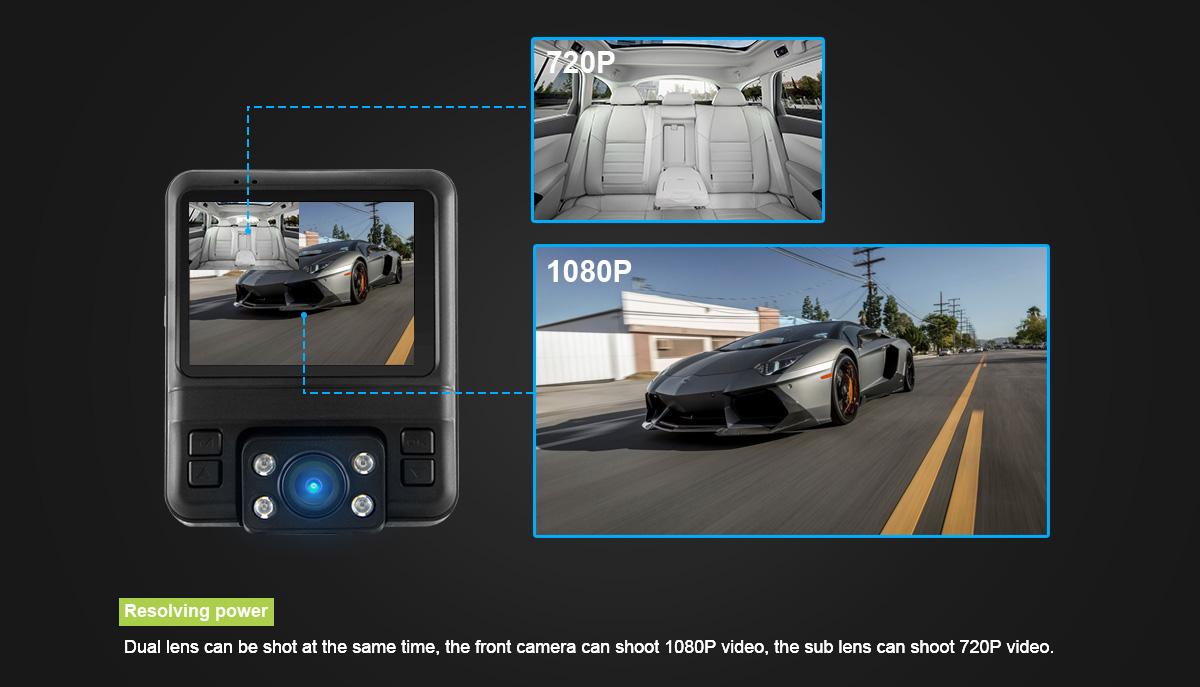 מצלמת דרך עם עדשה פנימית וחיצונית HD עם GPS מותג TAXIBOX - צילום פנימי וחיצוני