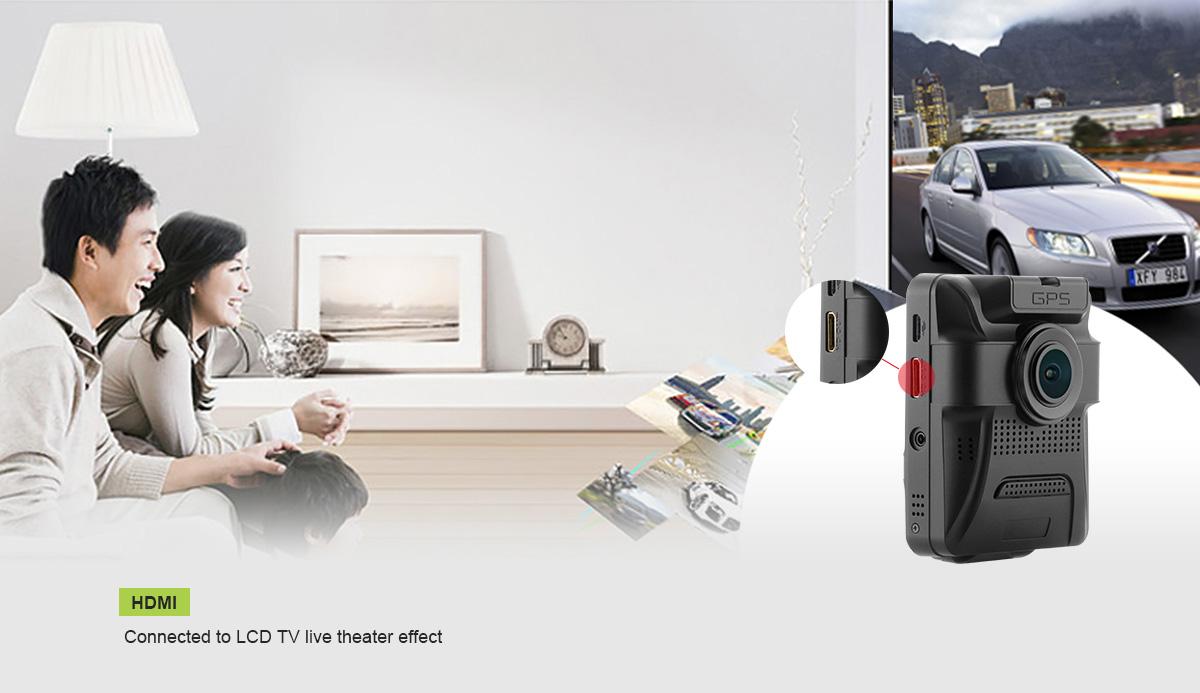 מצלמת דרך עם עדשה פנימית וחיצונית HD עם GPS מותג TAXIBOX - עם HDMI לטלוויזיה